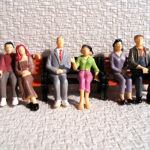 12 pcs All Seated G gauge 1:24 Painted Figures  LGB SCALE 6 different poses