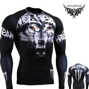 Fixgear tight cycling golf running mma compression skin baselayer shirts S~4XL