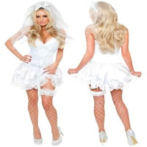 Ladies-Sexy-Bride-To-Be-Fancy-Dress-Costume-Sizes-8-20-Bridesmaid-Hen-Night
