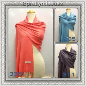 USA-Seller-21-colors-B-Style-Solid-2-Ply-Pashmina-Shawl-Scarf