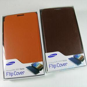 Genuine-Samsung-Galaxy-Note-N7000-i9220-Original-Flip-Cover-Case-Brown