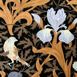 Patchwork Quilting Fabric Freedom William Morris F602-7 Iris Black fq