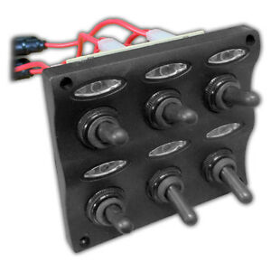 MARINE-ELECTRIC-6-GANG-LED-TOGGLE-SWITCH-PANEL-FOR-BOAT-AND-RVs-FIVE-OCEANS