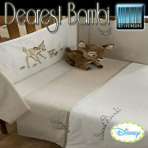 Disney Dearest Bambi Nursery Bedding Curtains Quilt Cuddle Robe Cushion Bumper