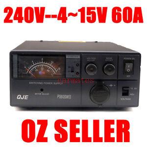 Variable Power Supply Switch Mode 4-15V 60A 13.8V 12V Ham Radio Car motor 240V