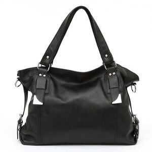 100% Genuine Real Leather Italian Designer Womens Handbag Purse Satchel Quality