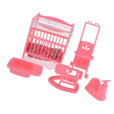 1/6 Doll House Furniture Accessories Nursery Room Play Set for Doll
