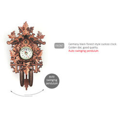 Creative Wooden Handcrafted Cuckoo Clock Carved Battery-operated Clock M