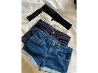 4 pairs of Girls shorts age 10-12