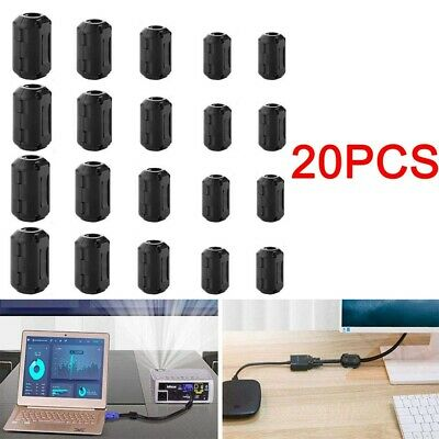 20pcs Clip-on Ferrite Ring Cable Clips Core Emi Noise Suppressor Filter Beads