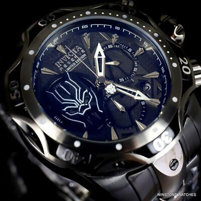 Invicta Reserve Venom III Marvel Black Panther Swiss Mvt Steel 52mm Watch New