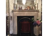 Oak Antique Fire Screen