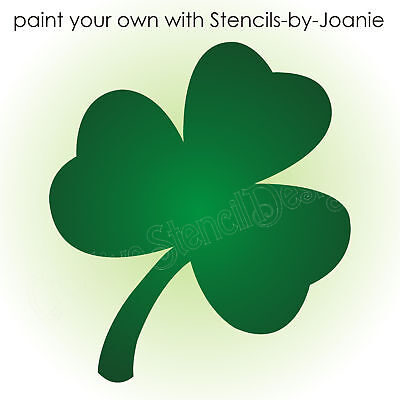 Stencil Shamrock Flower shape Lucky Irish Celtic 4 leaf Clover Tattoo Wall - Flower Shape