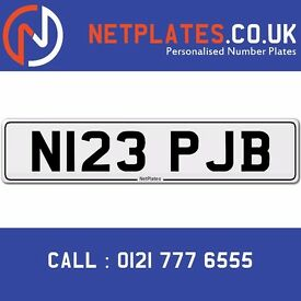 N123 PJB Registration Number Private Plate Cherished Number Car Registration Personalised Plate