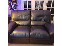 for sale harveys leather recliner sofa x2