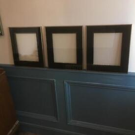 Black and chrome picture frames x 3