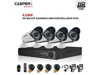 CASPERi In/Outdoor CCTV System with 4.0MP 4CH DVR and 4 Bullet Cameras