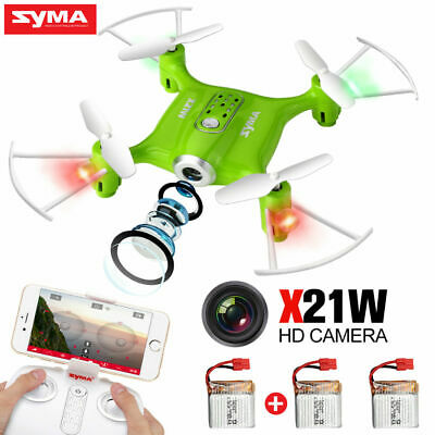 3 Batteries RC Drone SYMA X21W WIFI FPV HD Camera Quadcopter Helicopter Toy Gift