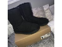Genuine UGG boots in black. Size 6.5