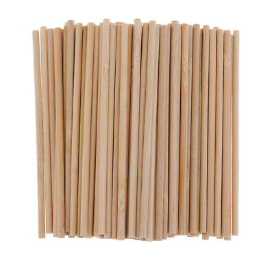 Round Bamboo Wooden Lollipop Lolly Sticks Cake Dowel For Model Making Crafts - Bamboo Dowels