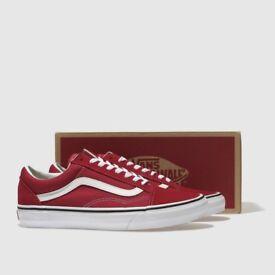 Red vans brand new
