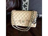 Chanel .255 bag jumbo with silver hardware new in box