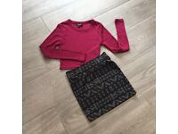 Girls Newlook Clothes - skirt and top age 8-9