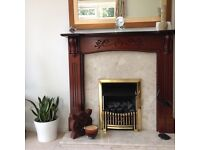 Mahogany Fireplace With Coal Effect Gas Fire