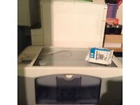 HP INKJET PRINTER AND SCANNER INCLUDING INK AND SOFTWARE