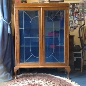 1920's China cabinet. Good condition £25.