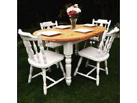 Farmhouse table & 5 chairs