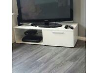 Brand new white gloss tv unit