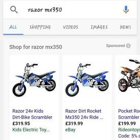 Razor motorcross electric bike