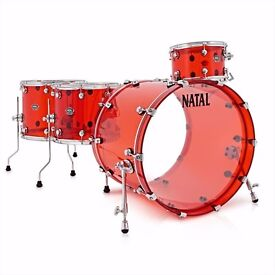 NATAL ARCADIA RED ACRYLIC DRUMS