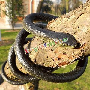 Halloween Realistic Rubber Toy Fake Snakes Safari Garden Props Joke Prank Gift