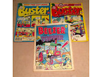 Mixed Comic Book Bundle - Buster (#24/94, #8/95), Beezer And Topper (#49)