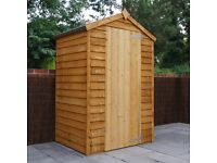 3 x 4 overlap wooden shed