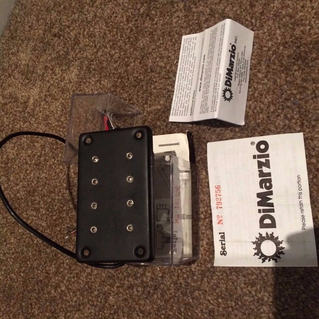 dimarzio model one dp120 bass pickup humbucker mudbucker in blackburn lancashire gumtree. Black Bedroom Furniture Sets. Home Design Ideas