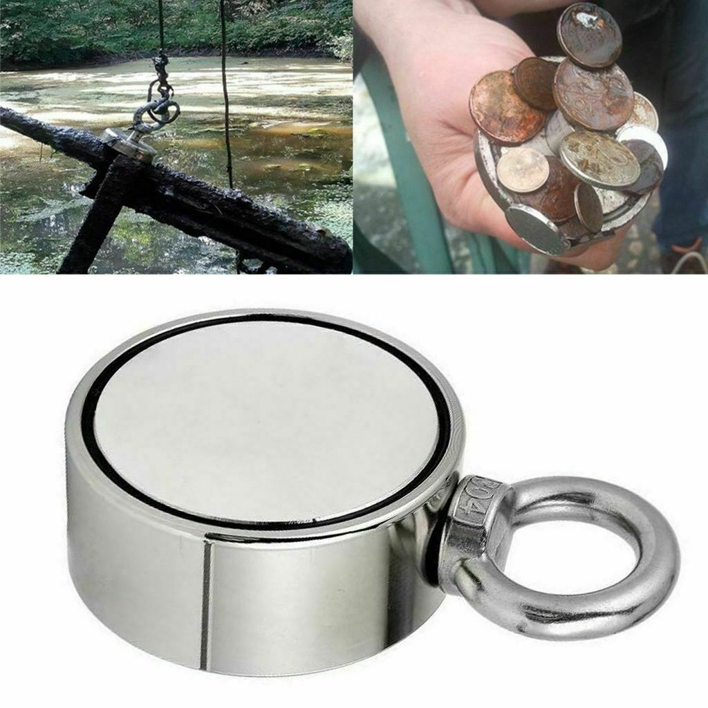 400-850LB Fishing Magnet Kit Strong Neodymium Pull Force Treasure Hunt With Rope For Sale - 6