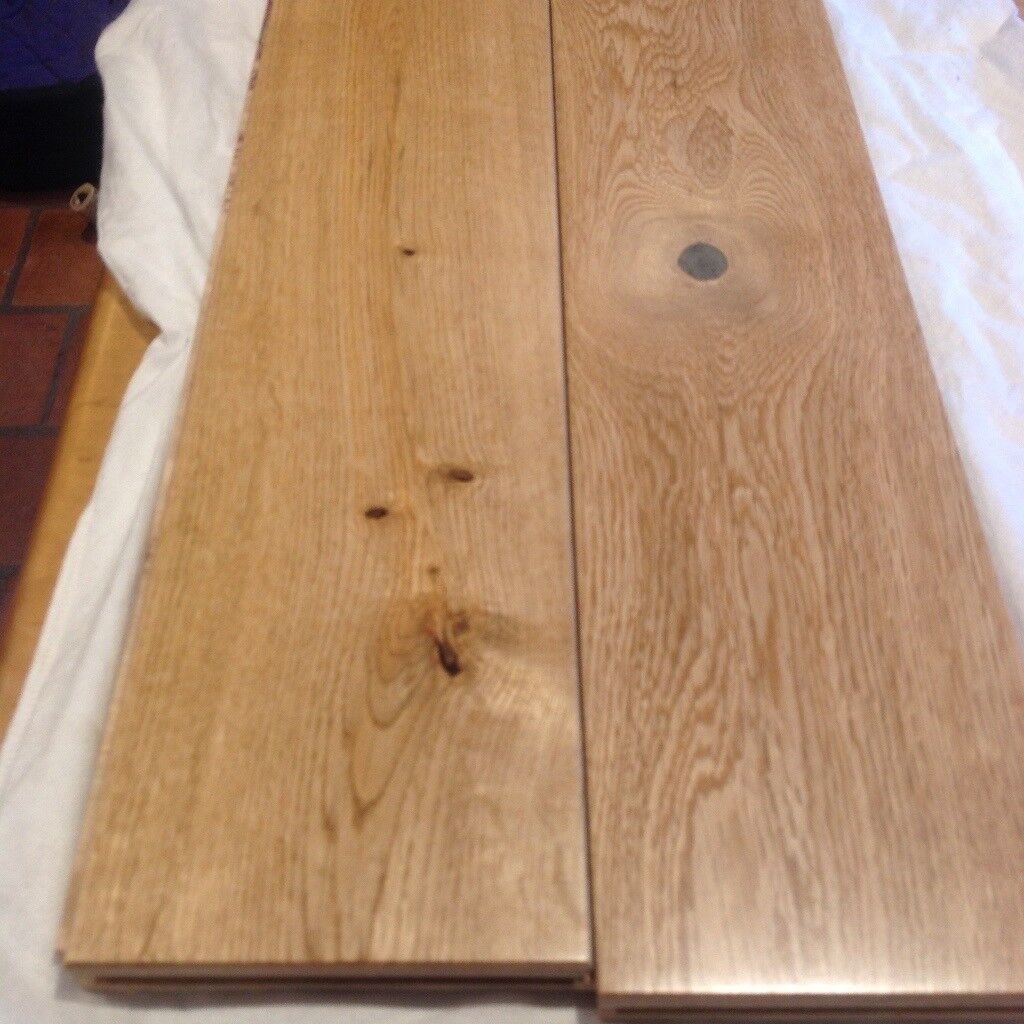 Engineered oak rustic bevelled plank lacquered Flooring