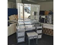 Mokka Crushed Diamond Dresser Set BRAND NEW