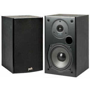 Polk Audio T15 Bookshelf Speakers - Black - Pair (Open box)***READ***