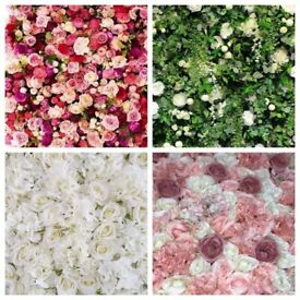 10ft x 10ft Flower Wall Backdrop Hire ONLY £125 for a 4 HOUR HIRE FREE LONDON DELIVERY & COLLECTION