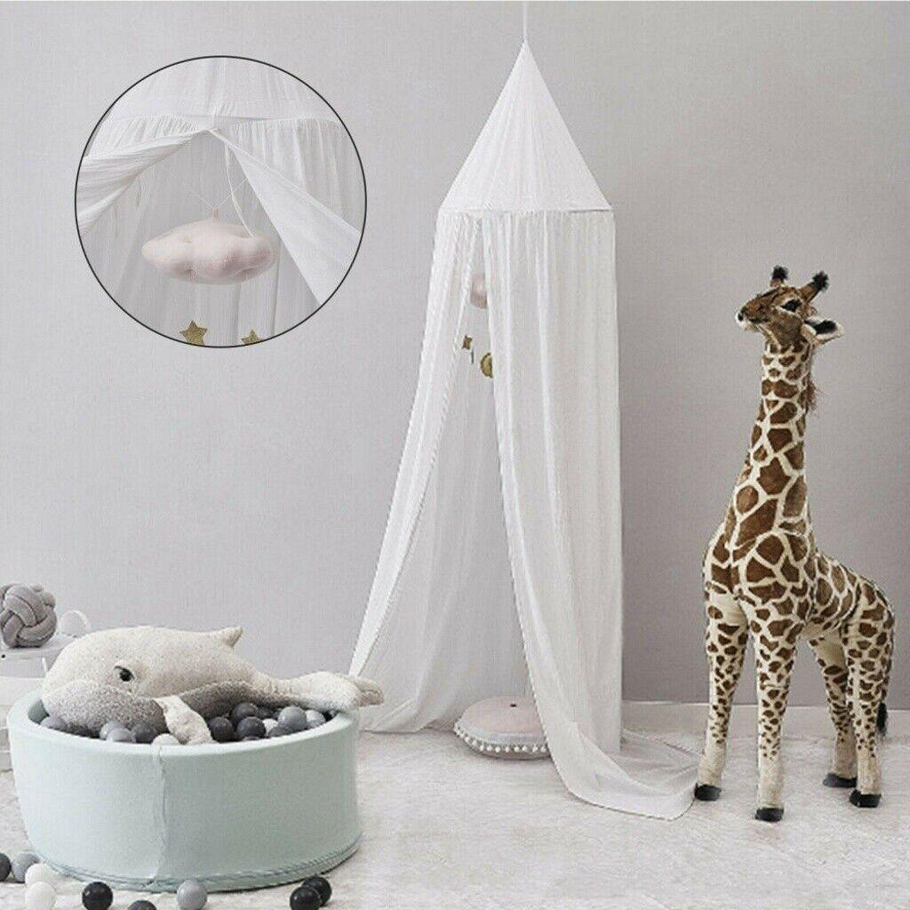 Betthimmel+Licht Kinder Mädchen Baldachin Moskitonetz Mückennetz Kinderzimmer