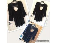 Miss Selfridges size 16 black lace play suit....