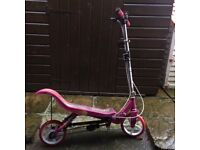 PINK SPACE SCOOTER FOLDABLE SPORTS SCOOTER