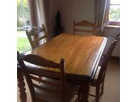 County kitchen Table and four chairs