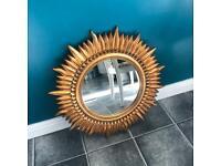 Antique gold mirror