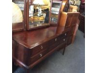 ***REDUCED*** vintage oak stag dressing table with mirror