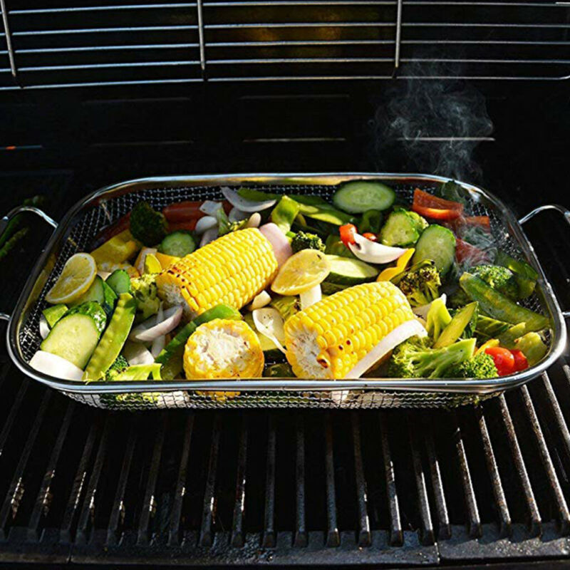 vegetable grill basket stainless steel barbecue wok